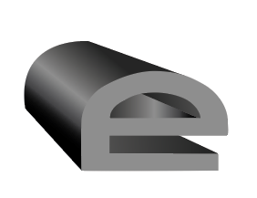 A 3D rendered E shaped rubber shape